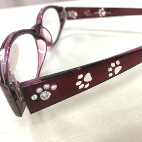 猫 ネコ ねこ キャット シニアグラス 老眼鏡 猫柄 (シニアグラス 猫足跡)|nyanpakusengen