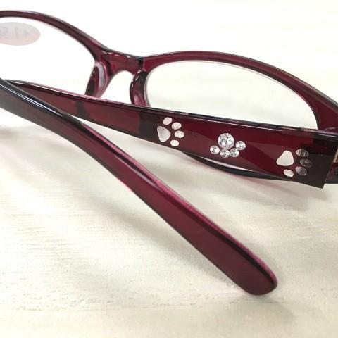 猫 ネコ ねこ キャット シニアグラス 老眼鏡 猫柄 (シニアグラス 猫足跡)|nyanpakusengen|04