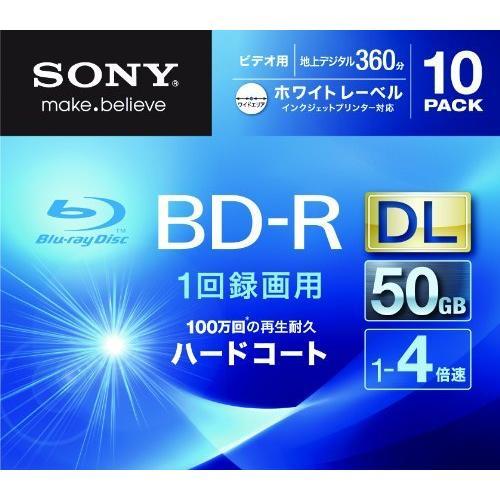 SONY ビデオ用BD-R 追記型 片面2層50GB 4倍速 ホワイトプリンタブル 10枚パック 10BNR2VGPS4 nysj