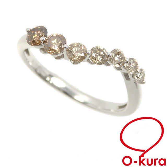若者の大愛商品 ブラウンダイヤモンド リング レディース K18WG, グリーンコンシューマーのお店 03ee5a9c