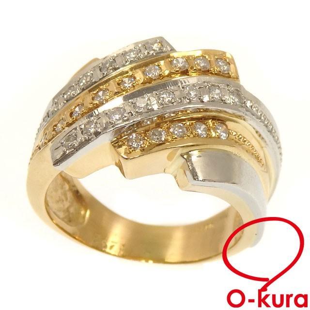 高質 ダイヤモンド リング レディース K18YG, オノヤスポーツ bdb82265