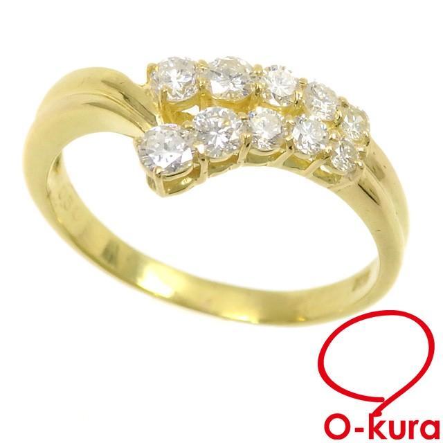 品質一番の 【値下げしました】  ダイヤモンド リング レディース K18YG 14号, そふまるShop 1db35a6b