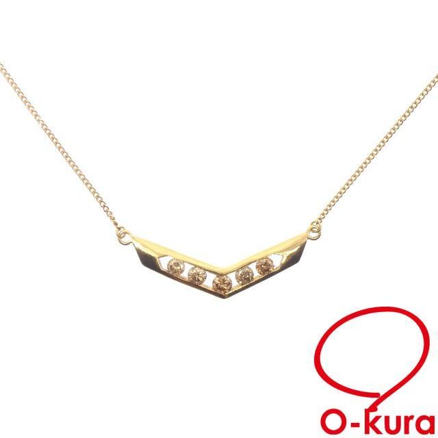 正規品販売! ダイヤモンド ネックレス レディース K18YG, コウヤマチョウ f5b6a3e8