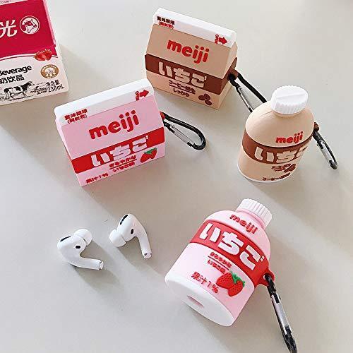 Ichi Airpods保護ケース Airpods Pro世代に適用 コーヒー シリコン キズ防止 紛失防止 耐衝撃 着装まま充電可能 カバー o-p-s 04