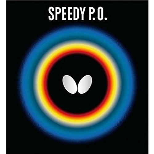 送料無料 バタフライ(Butterfly) 卓球 ラバー スピーディ PO 表ソフト 高弾性 (スピード) 00260 レッド 中