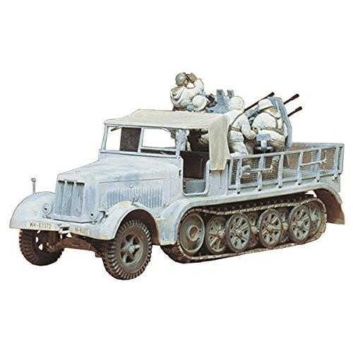 送料無料 タミヤ 1/35 ミリタリーミニチュアシリーズ No.50 ドイツ陸軍 8トンハーフトラック 4連高射砲搭載 プラモデル 35050