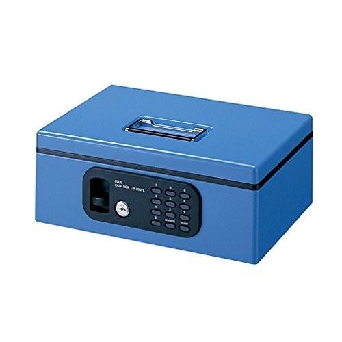 送料無料 プラス プラス 金庫 手提金庫 電子ロック B5 FL型 Sサイズ ブルー 12-846