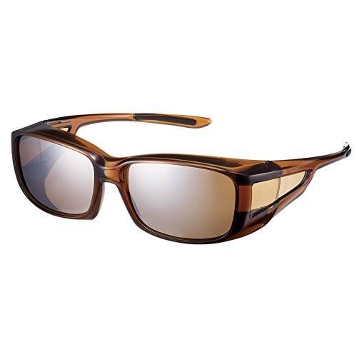 送料無料 SWANS(スワンズ) サングラス メガネの上からかける オーバーグラス 偏光レンズモデル OG4-0765 BRCL ブラウンクリア