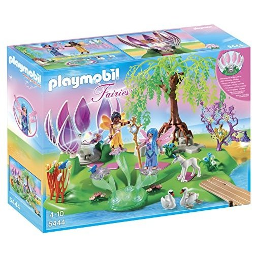 送料無料 PLAYMOBIL (プレイモービル) Fairy Island with Jewel Fountain Playset(並行輸入品)