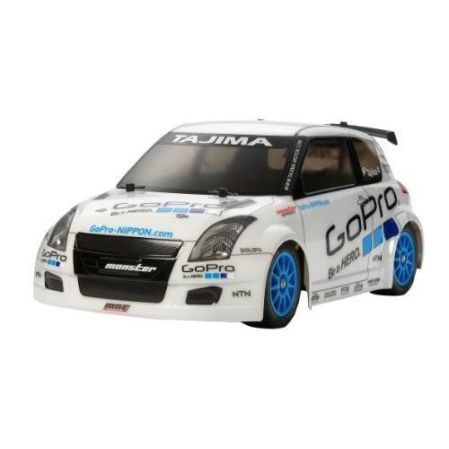送料無料 タミヤ 1/10 電動RCカーシリーズ No.581 GoPro モンスタースポーツ スーパースイフト (M-05シャーシ) オンロード 5