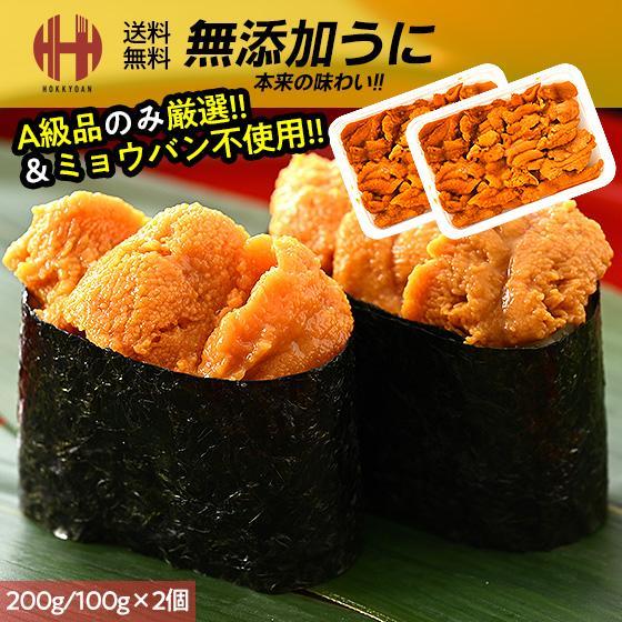 うに ウニ 無添加 A級品 200g(100g×2個) o-select-fukui