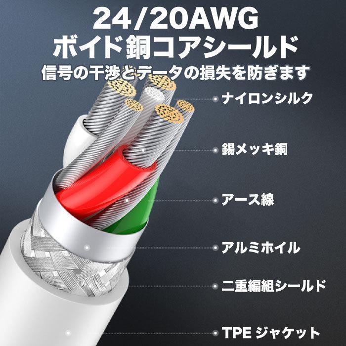 UGREEN iPhone 充電 ケーブル C89コネクタ ライトニングケーブル 高耐久 長い 2m Apple認証 MFi 純正チップ 急速充電対応 アイフォン 充電器 充電ケーブル us155|oa-plaza|11