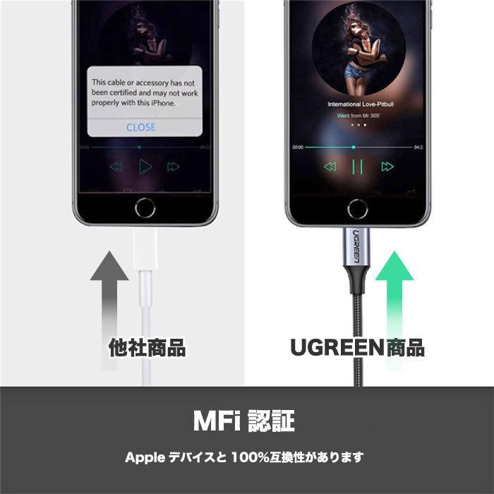UGREEN iPhone イヤホンジャック Lightning 3.5mm イヤホン 変換アダプタ MFi認定 iPhone 11 11 Pro 11 Pro Max X XR XS XS Max iPhone 7 7P 8 8P US211 30756 oa-plaza 03