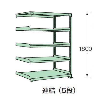 スチールラック スチール棚 中量棚 H1800×W1200×D900 天地5段(連結) H1800×W1200×D900 天地5段(連結)