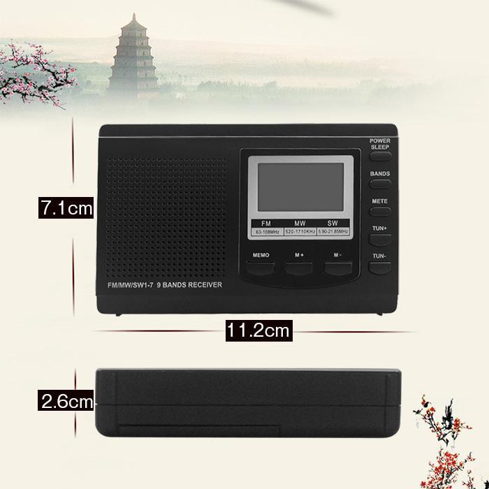 ラジオ 小型ポータブル FMAMSW ワイドFM対応 高感度受信クロックラジオ イヤホン付き タイマー機能 USB電池式 横置き型 日本語取扱説明書付き|oasistrade|14