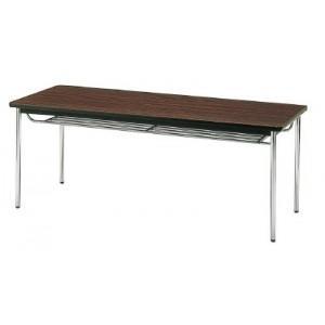 会議用テーブル 棚付丸脚 1800×600×700 ローズ TDS-1860TRO(ローズ)(ソフトエッジマキ) トラスコ(TRUSCO)