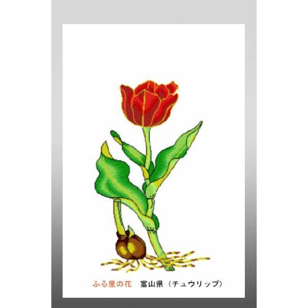 花 イラスト ポストカード 絵葉書 イラスト画ふる里の花富山県