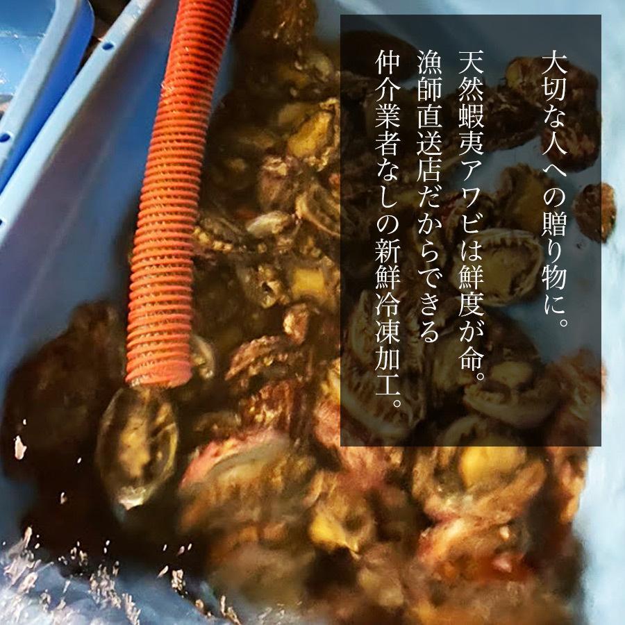 天然 蝦夷アワビ 1kg 冷凍 送料無料 青森産 エゾアワビ お刺身用 贈り物 お歳暮 あわび 鮑 正月 高級食材 ギフト 熨斗対応|obuchisengyodan|03