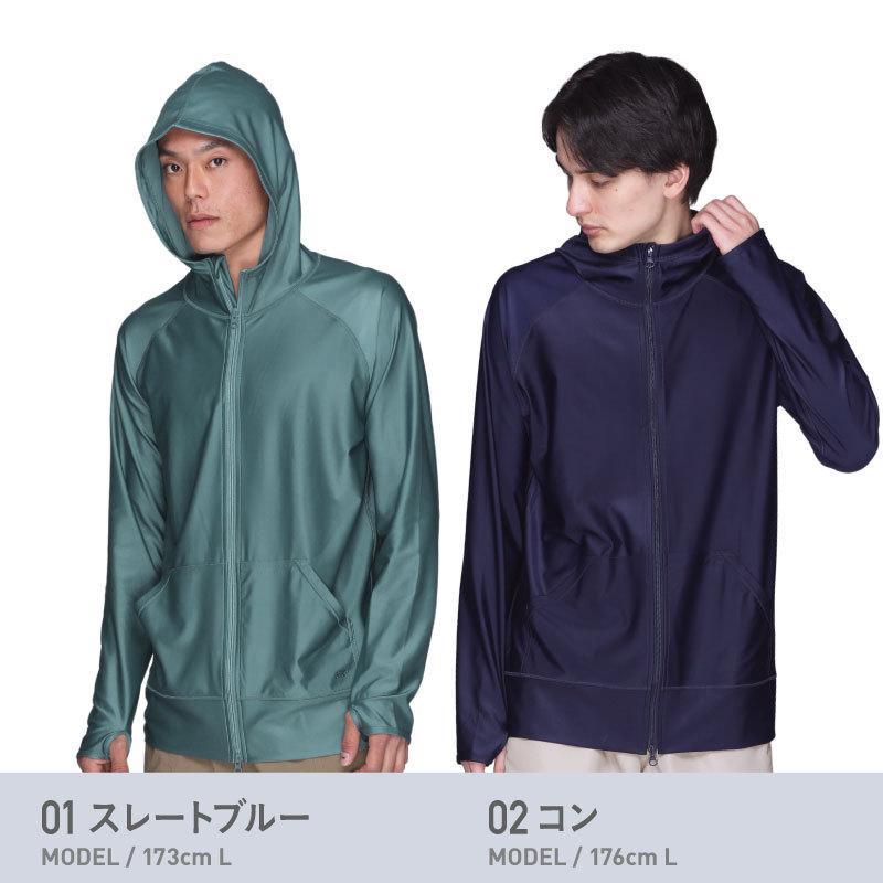 ラッシュガード メンズ 長袖 フード パーカー 水着 体型カバー 紫外線対策 おしゃれ 大きいサイズ PR-4200|oc-sports|07