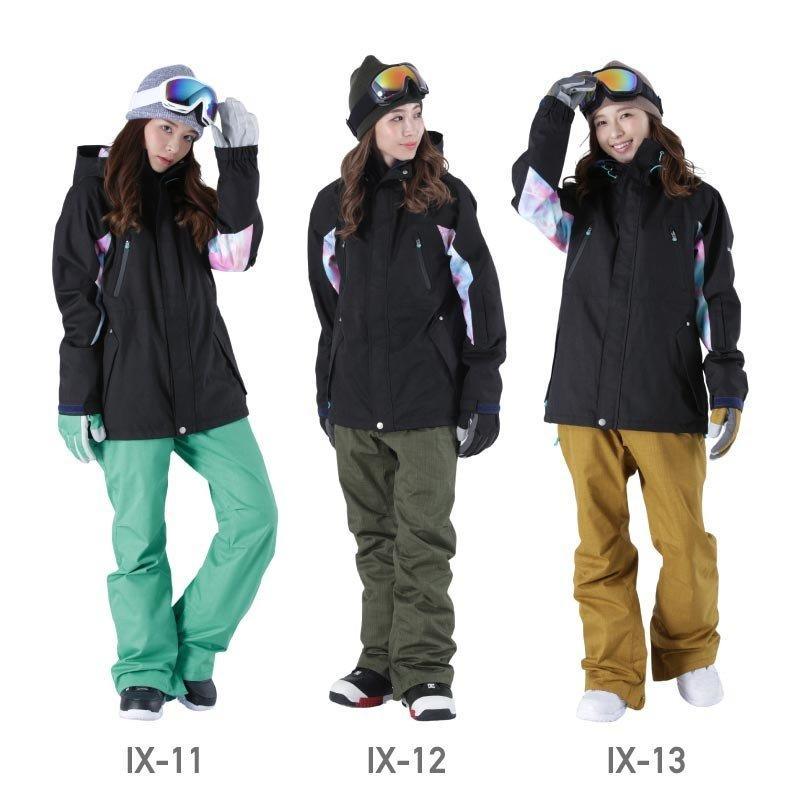 限定価格 スノーボード ウェア レディース スノーウェア スキーウェア スノボ 上下セット ジャケット パンツ IX-SET|oc-sports|12