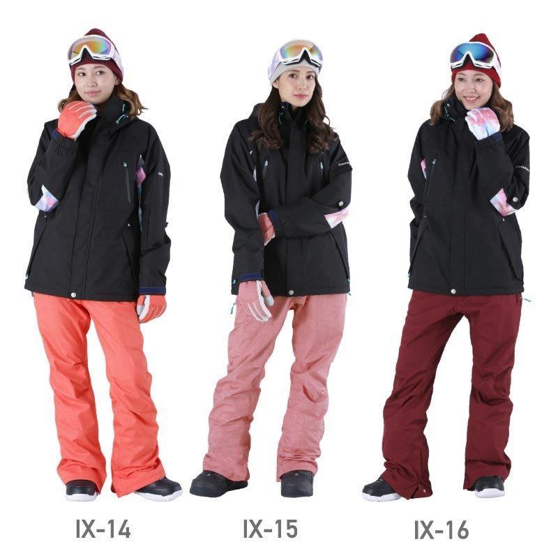 限定価格 スノーボード ウェア レディース スノーウェア スキーウェア スノボ 上下セット ジャケット パンツ IX-SET|oc-sports|13