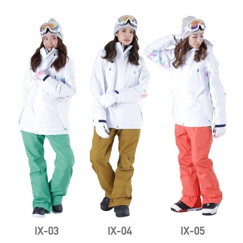 限定価格 スノーボード ウェア レディース スノーウェア スキーウェア スノボ 上下セット ジャケット パンツ IX-SET|oc-sports|09