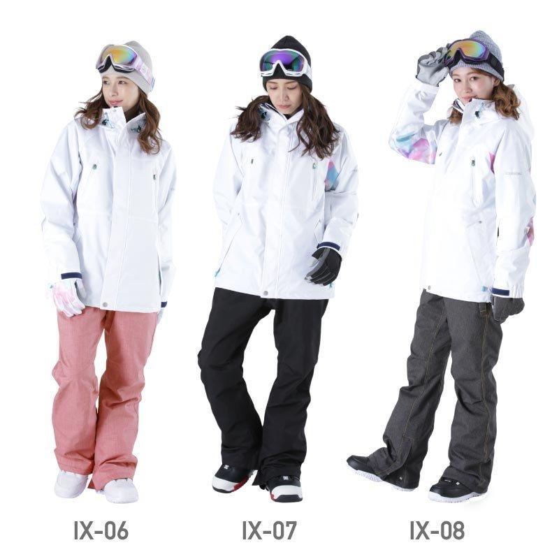 限定価格 スノーボード ウェア レディース スノーウェア スキーウェア スノボ 上下セット ジャケット パンツ IX-SET|oc-sports|10