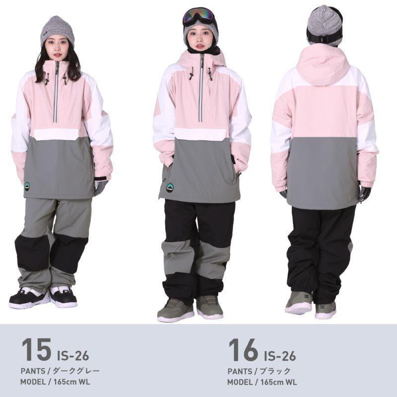 スノーボードウェア スキーウェア スノボウェア スノーウェア レディース ジャケット パンツ 上下セット ウェア 激安 ISB  2021 oc-sports 14