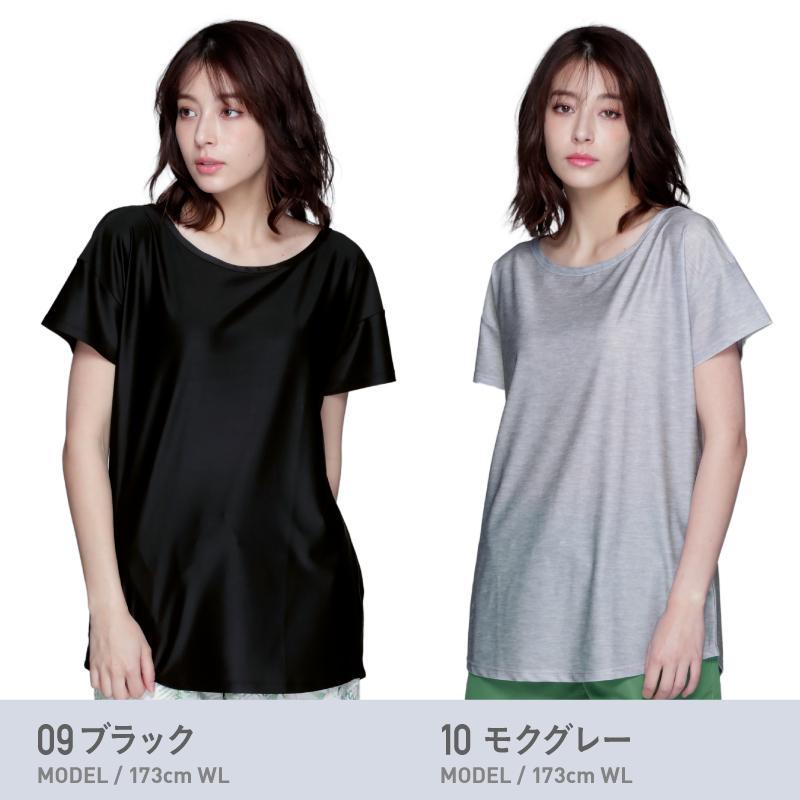 ラッシュガード レディース 半袖 フードなし Tシャツ 水着 体型カバー 紫外線対策 おしゃれ 大きいサイズ 透けない白 IR-7400 oc-sports 11