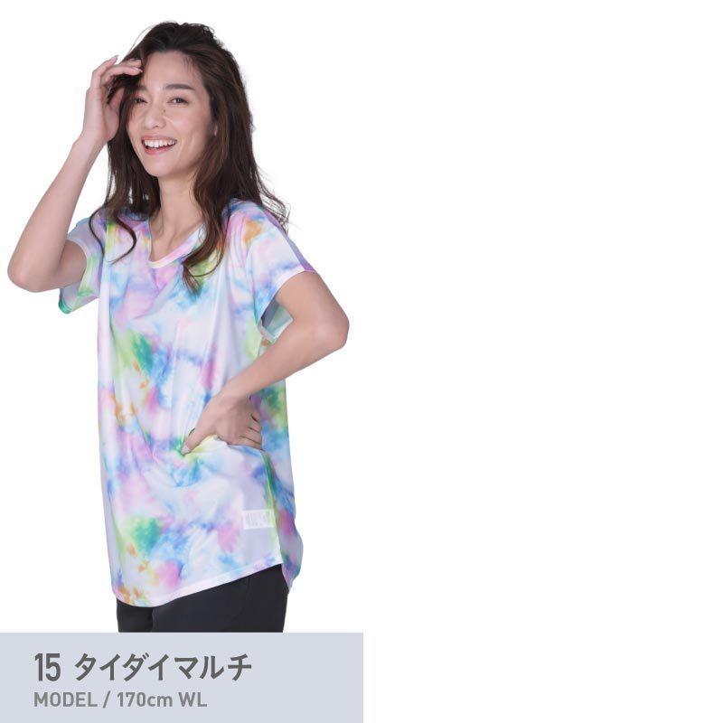 ラッシュガード レディース 半袖 フードなし Tシャツ 水着 体型カバー 紫外線対策 おしゃれ 大きいサイズ 透けない白 IR-7400 oc-sports 15