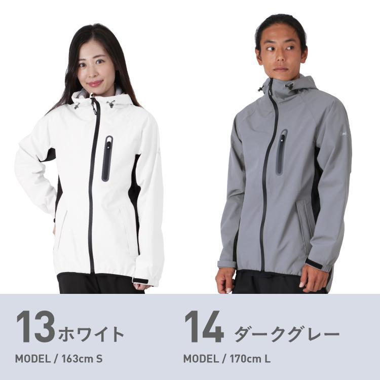 レインウェア メンズ レディース ジャケット 単品 耐水圧20000mm カッパ 雨合羽 雨具 レインスーツ ゴルフ ランニング NAMJ-3600|oc-sports|13