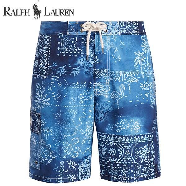 ラルフローレン 水着 海パン POLO RALPH LAUREN ポロ メンズ 紳士用 スイムウェア ショーツ サーフ ハーフパンツ モロッコタイル ネイビー ブルー