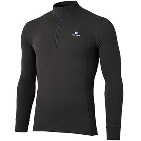 finetrack ファイントラック メリノスピンサーモジップネック Ms/BK/S FUM0612 男性用 ブラック Tシャツ アンダーシャツ アウトドア 釣り 旅行用品