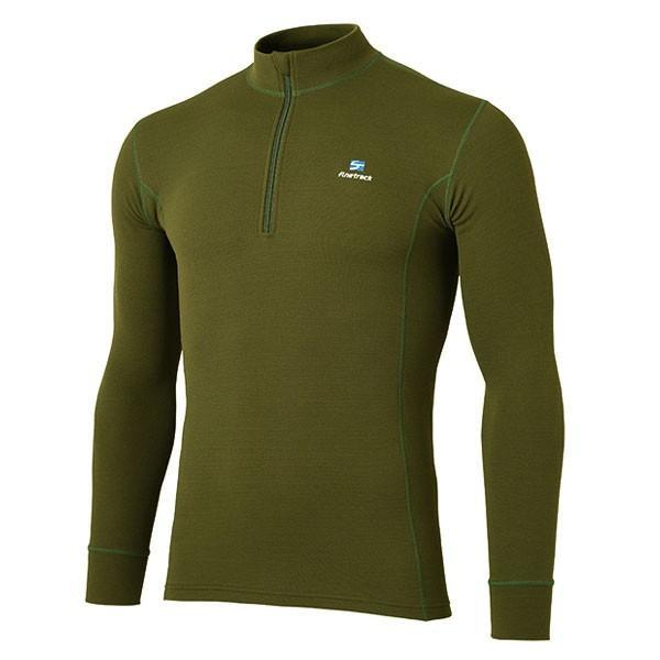 finetrack ファイントラック メリノスピンサーモジップネック Ms/DO/XL FUM0612 男性用 グリーン Tシャツ アンダーシャツ アウトドア 釣り 旅行用品