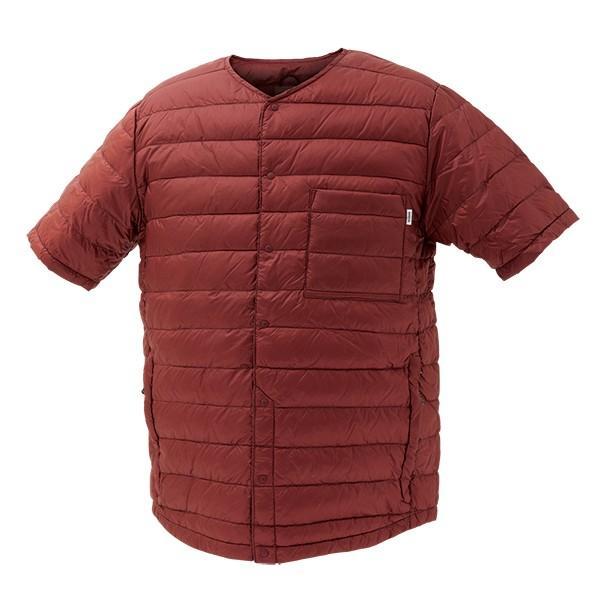 NANGA ナンガ ダウンTシャツ/BUR/M DT105 男性用 パープル シャツ ポロシャツ アウトドア 釣り 旅行用品 半袖Tシャツ 半袖Tシャツ男性用