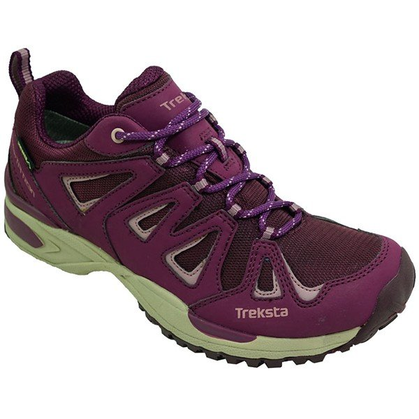 TrekSta トレクスタ ネバドLOWレースGTX/バーガンディ/23.5 EBK163 パープル 登山靴 トレッキングシューズ アウトドア 釣り 旅行用品 トレッキング用
