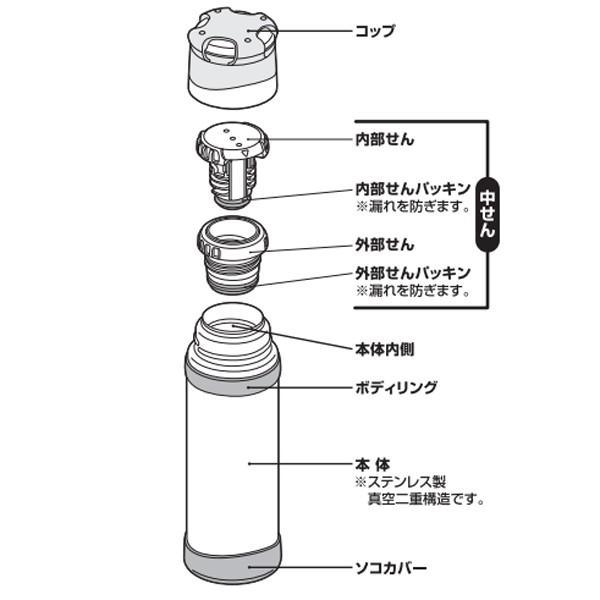 THERMOS サーモス 山専ステンレスボトル/ マットブラック MTBK 0.9L FFX-901 ウォータージャグ アウトドア 釣り 旅行用品 キャンプ ボトル od-yamakei 02