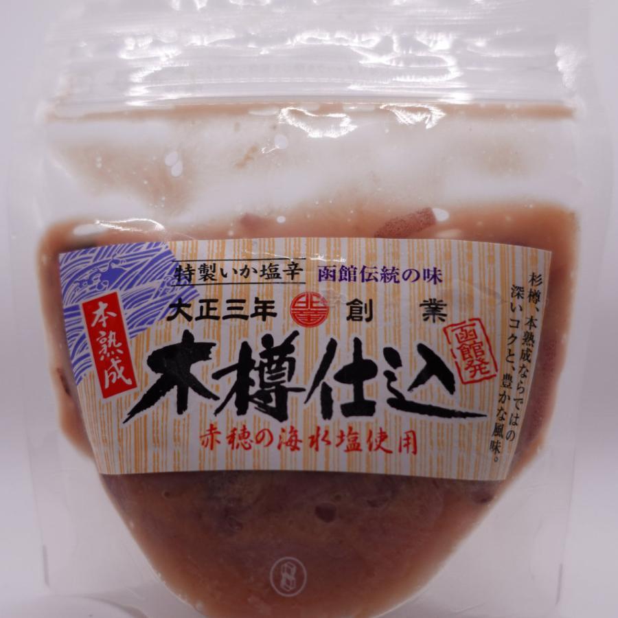 木樽仕込いか塩辛130g 毎日函館から手作りをクール便で直送!TV・雑誌で話題の発酵食品!|odajimasuisan