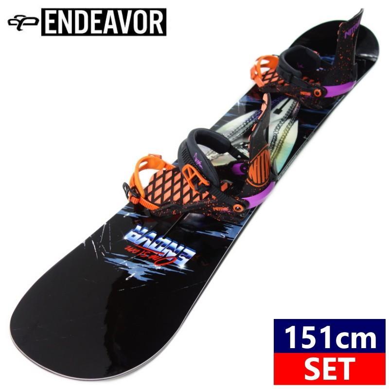●[151cm]17 ENDEAVOR High5+19 NITRO ZERO カラー:THROWBACK スノーボード 型落ち 板 バイン 二点セット