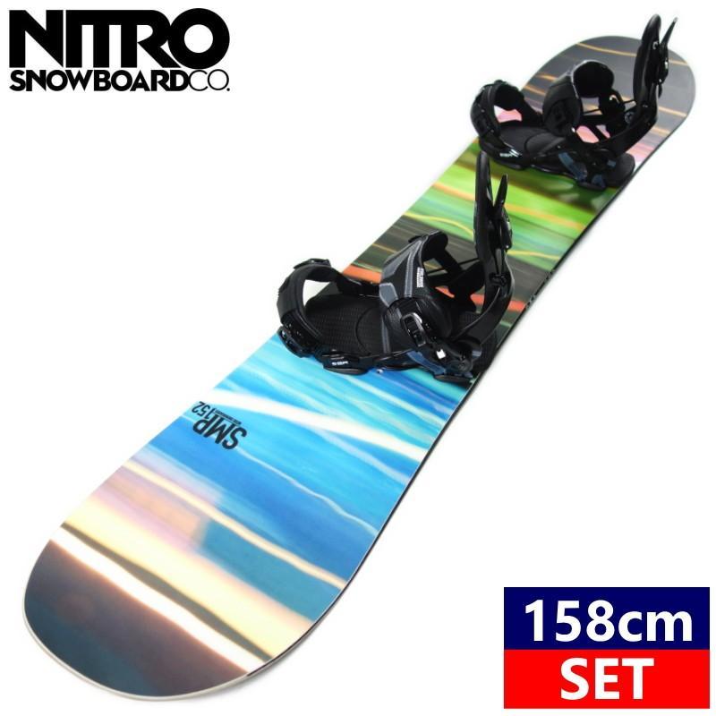 ★[158cm]19 NITRO SMP+SP UNITED CORE MULTIENTRY カラー:黒 スノーボード 型落ち 板 バイン 二点セット