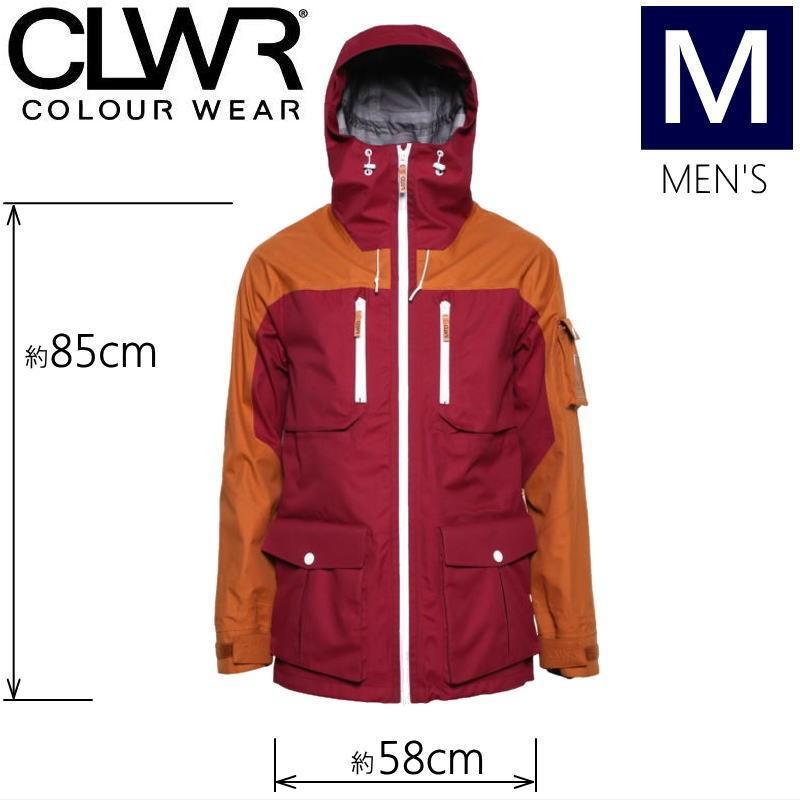 ●メンズ[Mサイズ] CLWR FALK JKT カラー:BURGUNDY スウェーデン生まれのカラーウェア 北欧テイストのオシャレなスキー・スノーボードウェア 高い耐水圧と透湿性