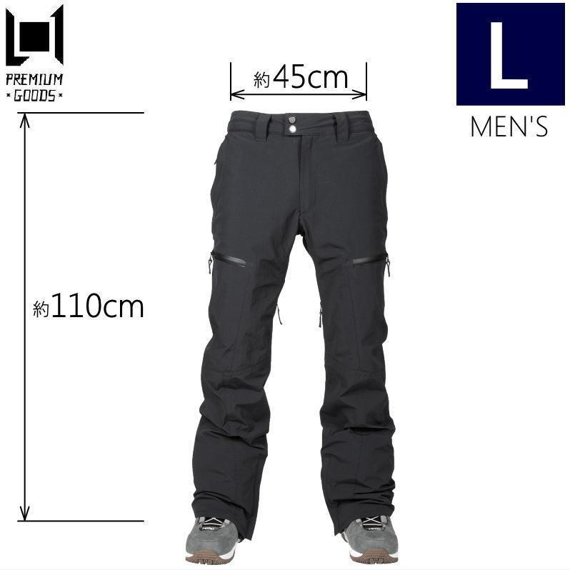 ★メンズ[Lサイズ]L1 GEMINI PNT カラー:黒 エルワン スキー スノーボードウェア メンズパンツ ジェミニパンツ PANT 日本正規品型落ち 旧モデル