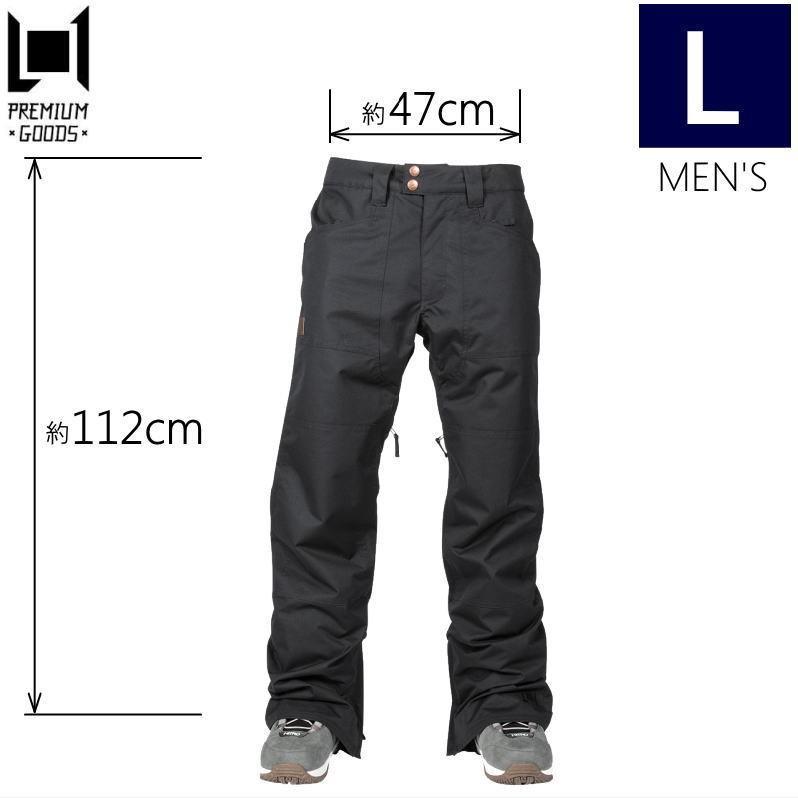 ★メンズ[Lサイズ]L1 AMERICANA PNT カラー:黒 エルワン スキー スノーボードウェア メンズパンツ アメリカーナパンツ日本正規品型落ち 旧モデル
