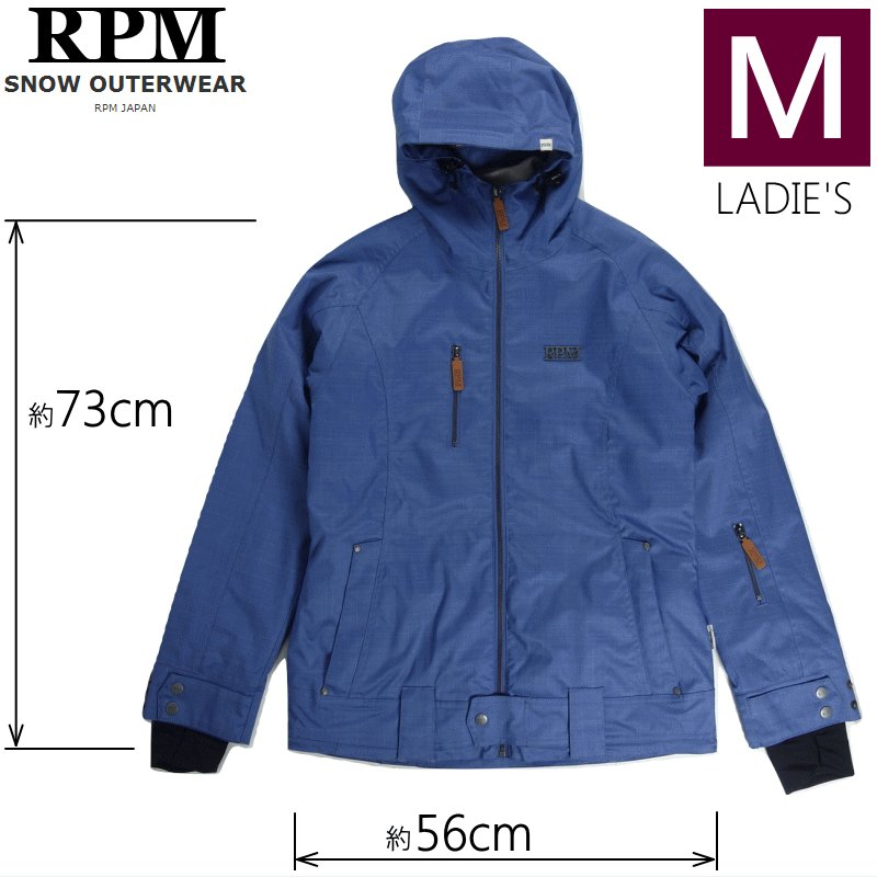 ☆レディース[Mサイズ] RPM CHARLOTTE JKT カラー:Denim 青 アールピーエム スキー スノーボードウェア ウーマンズ JACKET 型落ち 旧モデル 日本正規品