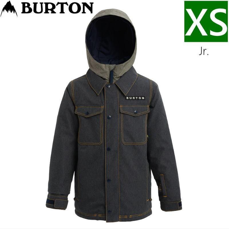 ☆キッズ ジュニア[XSサイズ]20 BURTON UPROAR JKT カラー:DENIM バートン スキースノーボードウェア キッズジュニアウェア アップロアージャケット
