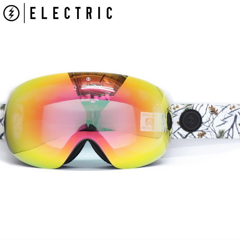 ★19 ELECTRIC EG3 カラー:COUNTRY レンズ:グレー 赤 CHROME JP エレクトリック ゴーグル スキー スノーボード 球面レンズ 型落ち 旧モデル