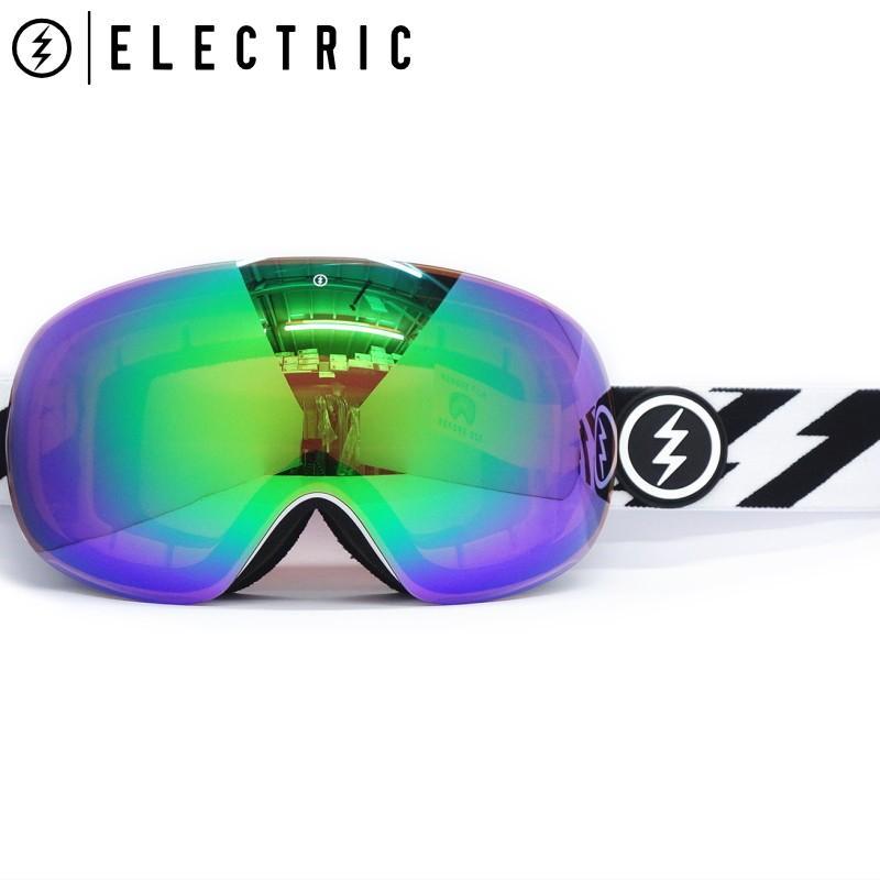 【メール便無料】 ★19 ELECTRIC EG3 カラー:VOLT WHITE レンズ:BROSE GREEN CHROME CONTRAST エレクトリック ゴーグル スキー スノーボード 球面レンズ 型落ち 旧モデル, インポートアクセサリーglitter.81 f4ec22f7