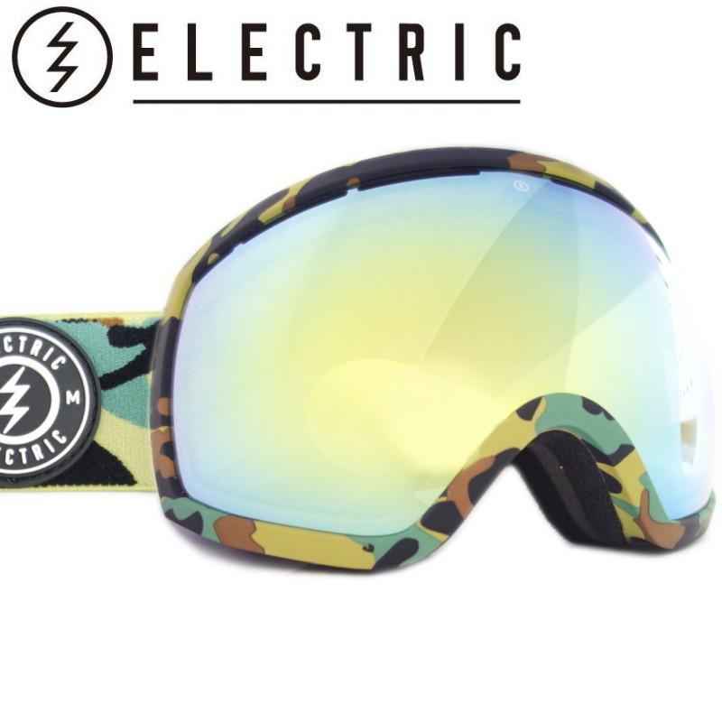 ★19 ELECTRIC EG2 カラー:CAMO レンズ:グレー ゴールド CHROME JP ゴーグル スキー スノーボード 球面レンズ 型落ち 旧モデル