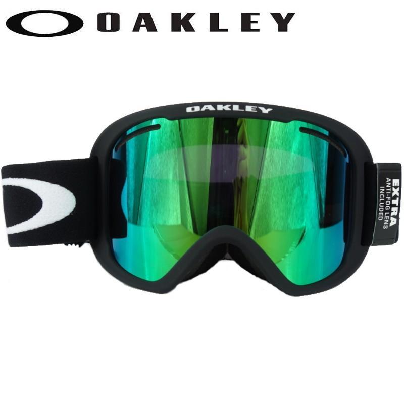 ☆20 OAKLEY O FRAME 2.0 PRO XL カラー:MATTE 黒 レンズ:JADE IRIDIUM+ボーナスレンスPERSIMMON オークリー ゴーグル 交換レンズ付き NEWモデル♪