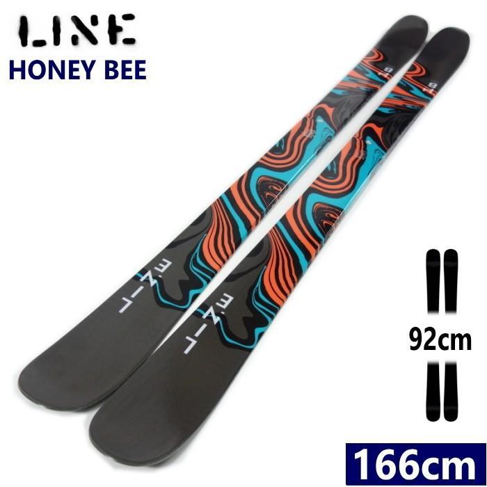 ★[166cmセンター幅92mm]LINE HONEY BEE ソール:BLK ラインのツインチップフリースキー板 バターやグラトリもオールラウンドに楽しめる 型落ち 旧モデル